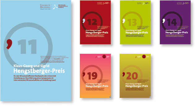 Corporate Design Hengstberger Preis - Internationales Wissenschaftsforum Heidelberg